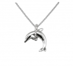 Wyland Dolphin Necklace - Med