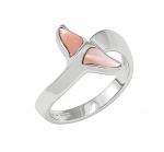 Wyland Dolphin's Tail Ring with Mother of Pearl in Sterling Silver - Size 8
