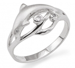 Wyland Dolphin Ring - Size 8