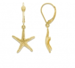14K Starfish Earrings - Small