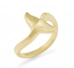 14K Dolphin's Tail Ring - Small
