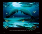 MANATEE ENCOUNTER (19 X 24 POSTER)
